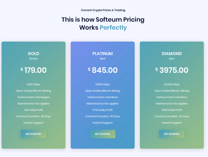 Softeum pricing